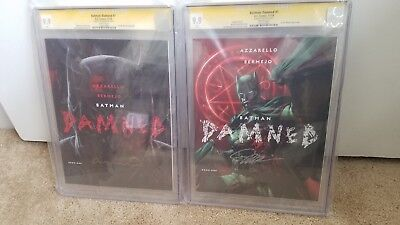 Cgc Ss 9.9~Batman Damned #1~Signed-Both Covers~ Bermejo+Jim Lee~ Set Of 2 Books