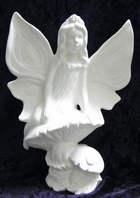 Ceramic Bisque Ready to Paint Summer Fairy  19cm Tall