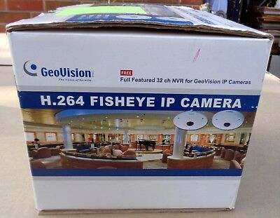 Geovision Gv-Fer521, 5Mp H.264 Fisheye Rugged Ip Camera