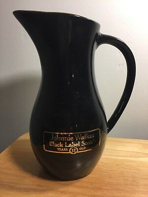 Johnnie Walker 12 Years Black Label Scotch Pitcher Vintage