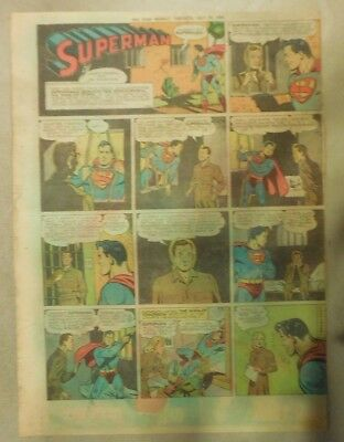 Superman Sunday Page #246 by Siegel & Shuster from 7/16/1944 Tabloid Page W/S