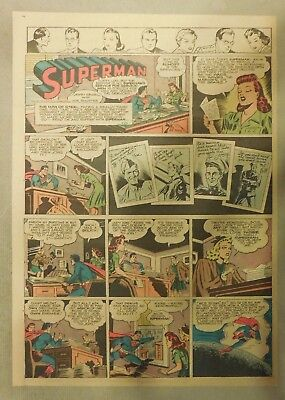 Superman Sunday Page #220 by Siegel & Shuster from 1/16/1944 Tab Page