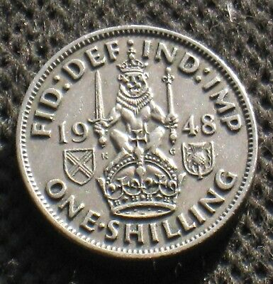 Old Coin Of United Kingdom One Shilling 1948 King George Iv