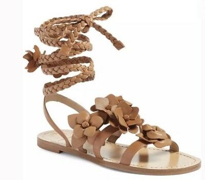 153512b0b1e Brand New Tory Burch Blossom Gladiator Leather Sandals in Royal Tan (Size   8)