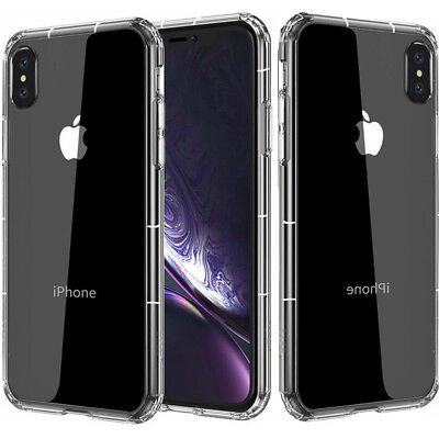 Fits iPhone XR XS Max 6 7 8P Slim Clear Case Hybrid Shockproof Bumper TPU Cover