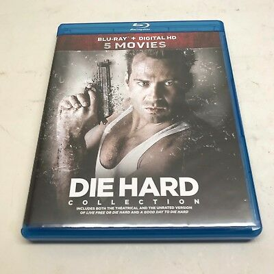 Die Hard 5 Movie Collection Blu Ray 2 With a Vengeance Live Free or A Good Day