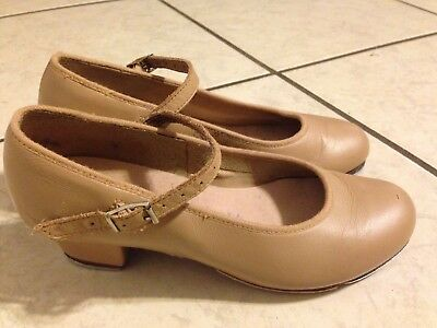 Bloch Tan Tap On Dance Shoe Youth Sz 4M (Fits Youth 2) Character Shoes Mary Jane