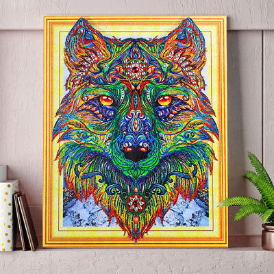 """""""NEW"""" Wiley the Wolf, 5D DIY DIAMOND like PAINTING BY NUMBER KIT 40x50cm Huge!"""