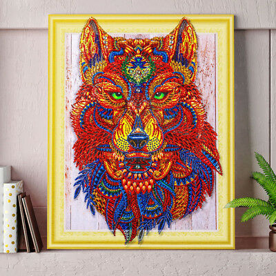 """""""NEW"""" Wicked The Wolf, 5D DIY DIAMOND like PAINTING BY NUMBER KIT 40x50cm Huge!"""