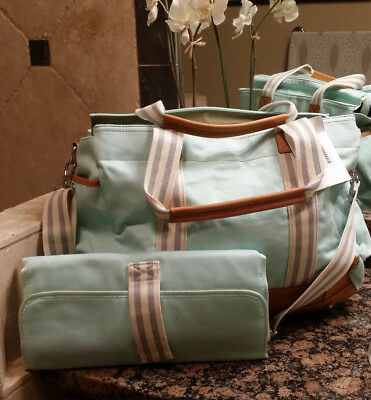 *NEW* Pottery Barn Kids Aqua Classic Diaper Bag