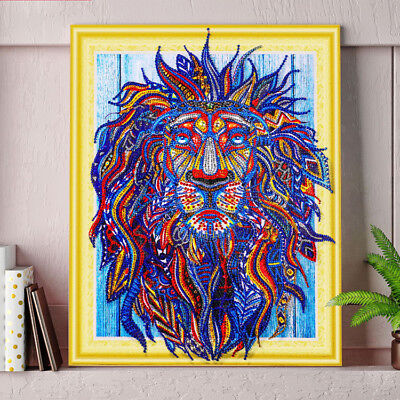 """""""NEW"""" LARRY THE LION  , 5D DIY DIAMOND like PAINTING BY NUMBER KIT 40x50cm Huge!"""