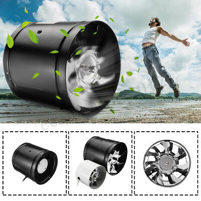 6'' 1080m³/ h In Line Fan Hydroponic Room Air Input Grow Tent Home Kitchen