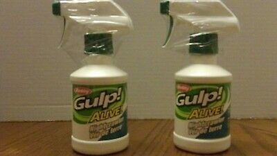 2 Gulp! Alive! Attractant Spray Attract Fish Bait Lures Outdoor Fishing 8 oz ea