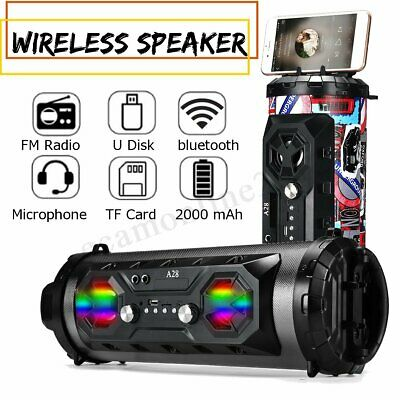 16inch LED Bluetooth Speaker Wireless FM Radio Stereo Loud Bass Subwoofer Aux TF
