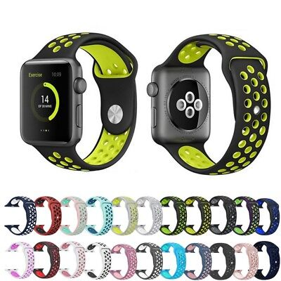 Soft Silicone Sport Wrist Band for Apple Watch 38mm 42mm 40mm 44mm Series 4 3 2
