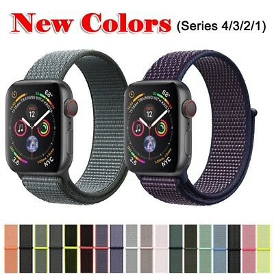 Nylon Soft Breathable Sport Loop Band for Apple Watch Series 38mm 42mm 40mm 44mm