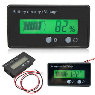 LCD 12V/24V/36V/48V Lead-Acid Battery Status Voltage Voltmeter Monitor Meter Car