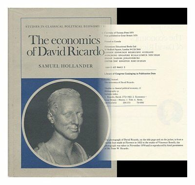 Economics David Ricardo by Hollander Hardback Book The Cheap Fast Free Post