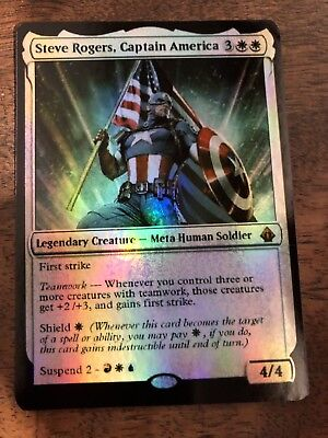 Captain America Marvel Magic The Gathering MTG card Planeswalker Stan Lee