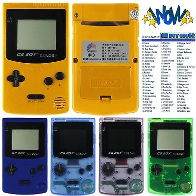 GB Boy Colour Retro Classic Handheld Game Console Player Built-In 66 NES Games