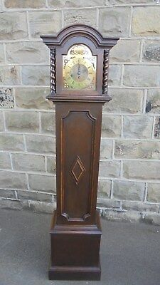 Antique Edwardian Oak Granddaughter Clock
