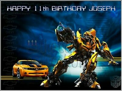 Transformers Bumblebee / Edible Cake Topper / Icing / Wafer / Many Sizes