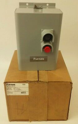 Furnas 11Db20 Manual Starter M-1 2Poles, 1Ph 2Hp 115V, 1Ph 3Hp 200-230V, Nema 12