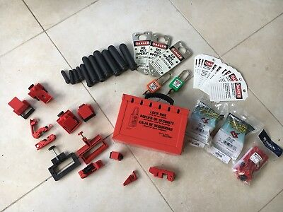 Lock Out Tag Out (LOTO) Lot Electrical Safety Circuit Breaker Locks Tags Hasps