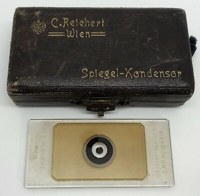 Antique C. Reichhert Wien Microscope Counting Chamber Slide No. 194418 (RF902)
