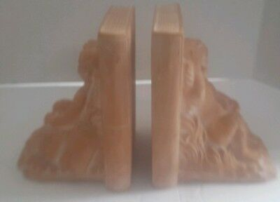 Vintage CBK Angel Cherub Ceramic Bookends
