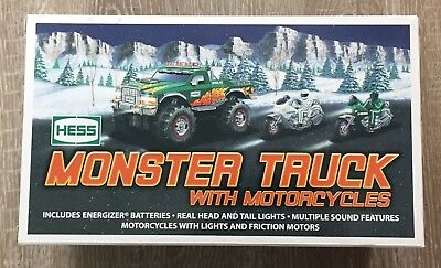 HESS 2007 MONSTER TRUCK w/ MOTORCYCLES NEW IN BOX