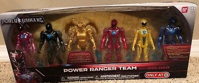 POWER RANGERS THE MOVIE TARGET EXCLUSIVE 6 Figures Includes METALLIC Goldar