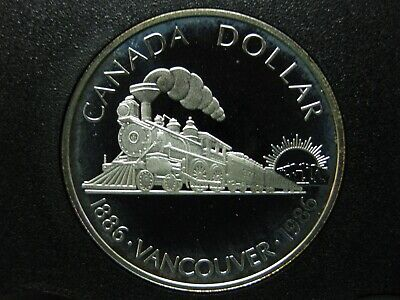 1986 100th Anniversary of the City of Vancouver Canadian Silver Coin