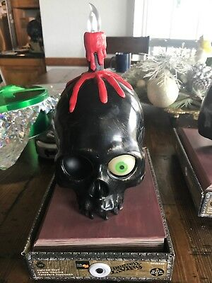 Haunted Living Talking Lighted Skull Candle With Flickering Light