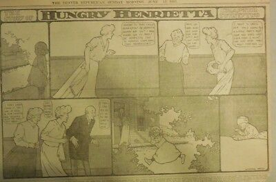 Hungry Henrietta by Winsor McCay from 6/11/1905 ! Half Page Size! 11 x 15 inches