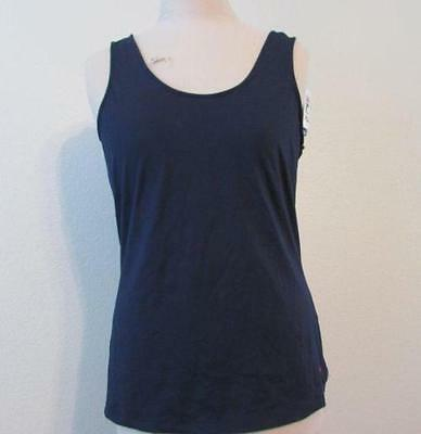 d1b5b8ad4be43 FILA womens Med navy blue solid Heritage wicking athletic tank top tennis  NEW