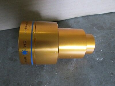 "35mm cine projection lens - Isco Optic Ultra star HD f = 60mm 2, 35"" MC"