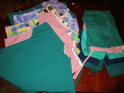 Lot of Scrubs 5 Tops 4 Pants  Black Star White Swan UA Synergy EXCELLENT XS S