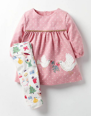 BABY GIRLS MINI BODEN dress leggings outfit 3 6 12 18 24 months