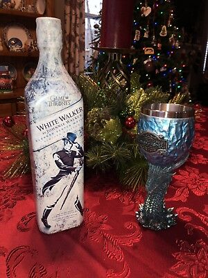 White Walker by Johnnie Walker LIMITED EDITION Game of Thrones SCOTCH W/GOBLET