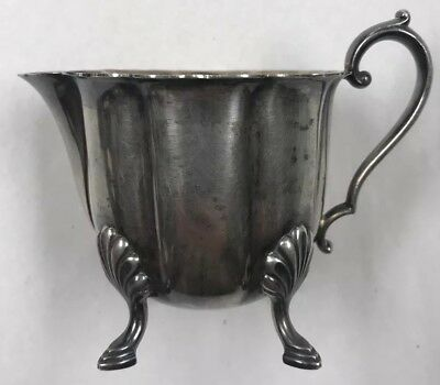 Antique / Vintage Early American Meriden Silver Plate Co. No.2424 Footed Creamer