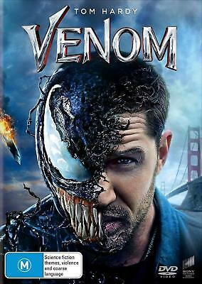 VENOM (2018):  Marvel, Action, Sci-Fi, Tom Hardy, Michelle Williams - Au Rg4 DVD