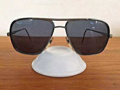 Vtg 70s 80s Maurice St-Michel Retro Aviator Big Glasses Metal Frames Made Italy