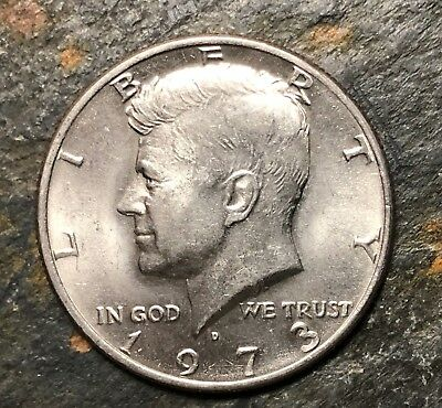 1973 D Kennedy Half Dollar- Bright Uncirculated Coin