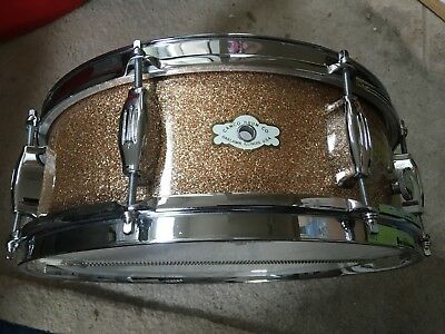 Stunning Camco Oaklawn Ill 5X14 Champagne Sparkle Snare Drum,  Exc++ !.
