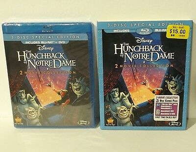 The Hunchback of Notre Dame I & II (Blu-ray/DVD, 3-Disc Set, Special Edition)