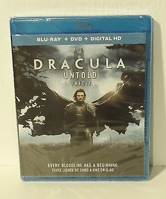 Dracula Untold (Blu-ray/DVD, 2015, 2-Disc Set, Canadian) NEW AUTHENTIC REGION A