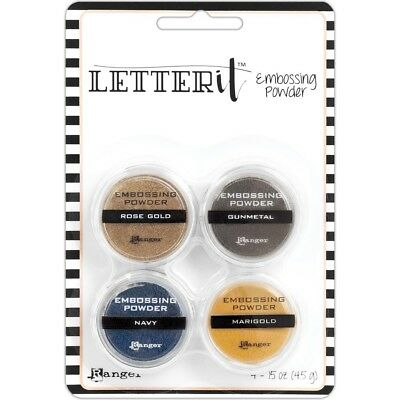 Ranger - Letter It - Embossing Powder Set - Metallics