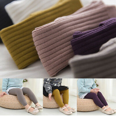 Baby Girl Pantyhose Tights Knit Stockings Candy Color Cotton Warm Cropped Pants