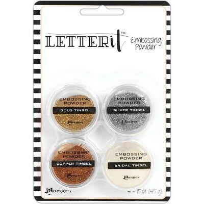 Ranger - Letter It - Embossing Powder Set - Tinsels